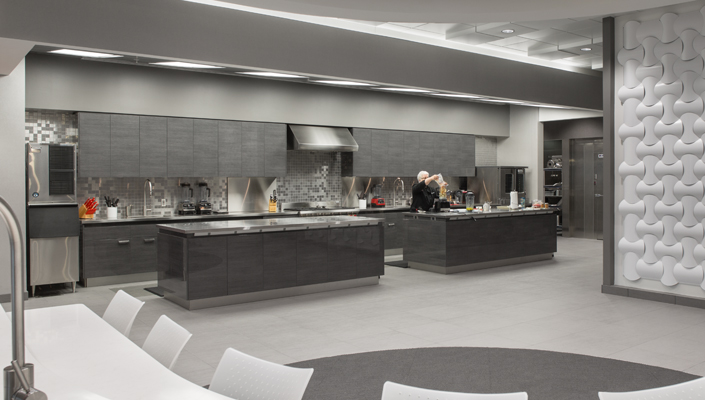 The Culinary Center also contains ample workspace for recipe developers.