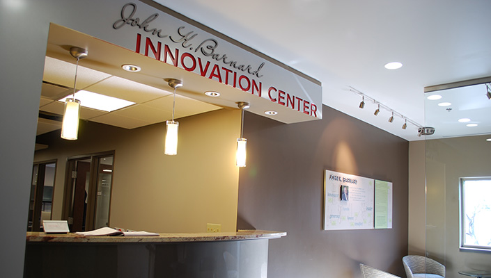 The John K. Barnard Innovation Center entrance.