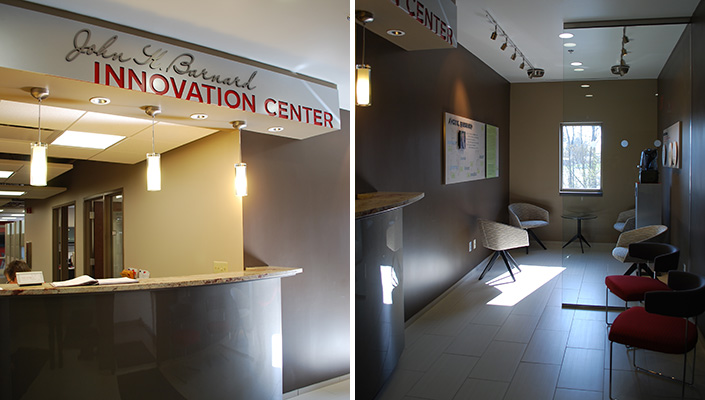 The Innovation Center is named for John Barnard, the fourth leader and current Executive Chairman.
