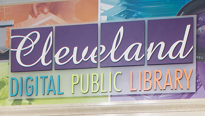 The destination was named by the Library leadership. We designed the brand, expressed here in the entrance to the space.