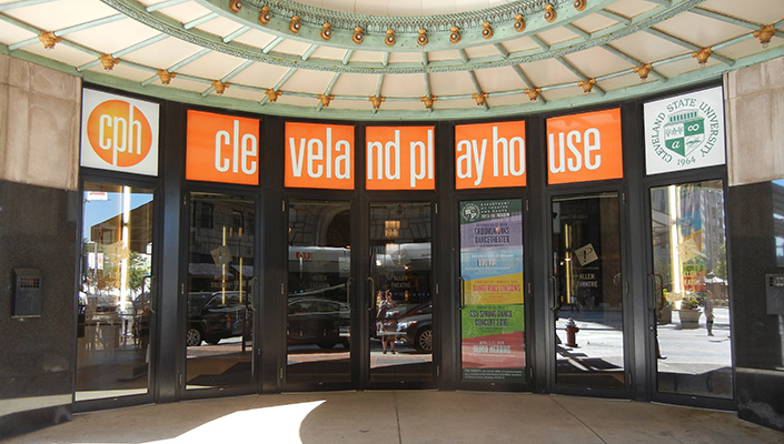 During the day, the seven LED sign boxes present clean, shadow-free branding at the front doors.