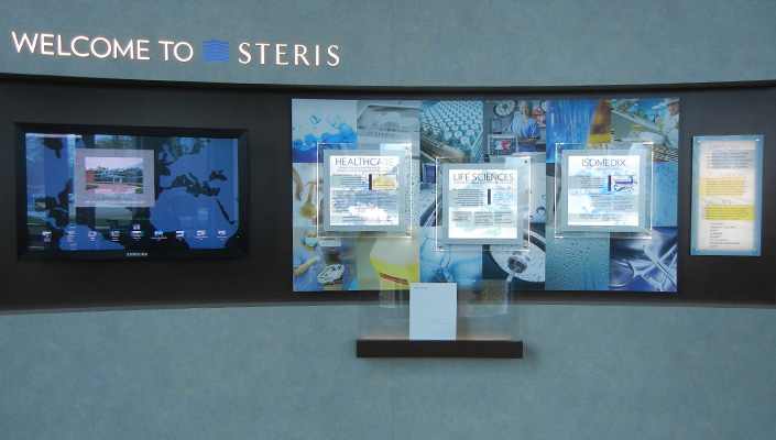 An interactive STERIS Global Map invites the Customers and visitors to choose anywhere in the world to find a STERIS location.