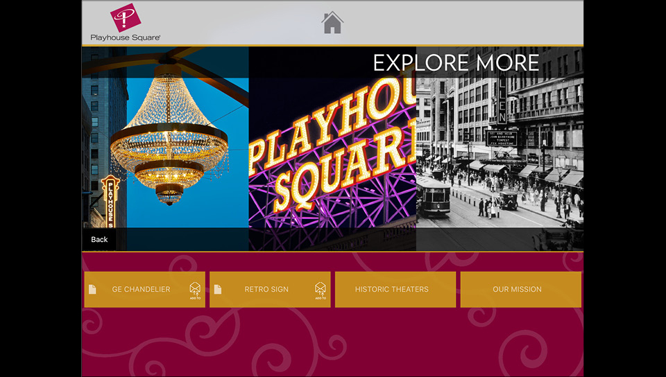 Visitors can learn more about  Playhouse Square and the theaters.