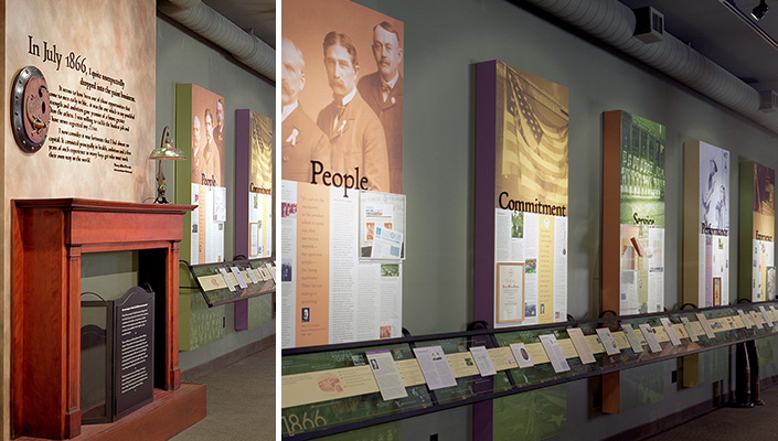 A 40 Ft Timeline Supported By Values That Have Been Adhered To Throughout Its History